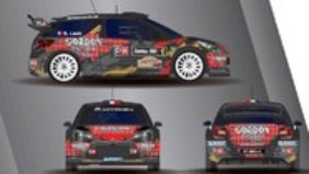 Sébastien Loeb al Rally di Condroz in Citroën DS3 WRC con i colori di Gordon Finest Beers!