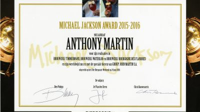 Anthony Martin, winner of the Michael Jackson Award 2015-2016.