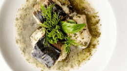 Eel in green sauce with Timmermans Lambicus Blanche