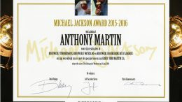 Anthony Martin, lauréat du Michael Jackson Award 2015-2016.