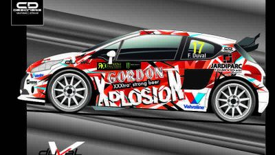François Duval will drive a Peugeot 208 RX Supercar in Coyote World RX of Belgium